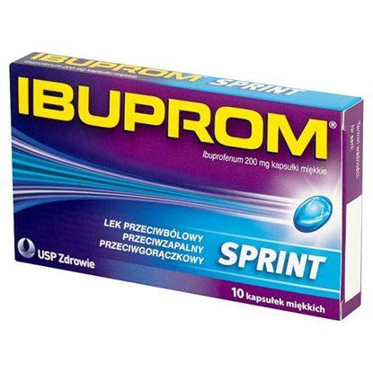 Obrazek Ibuprom Sprint 200 mg Kapsułki miękkie 10 kapsułek
