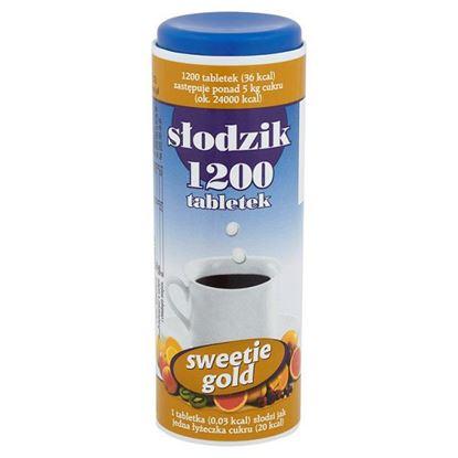 Obrazek Sweetie Gold Słodzik 72 g (1200 tabletek)