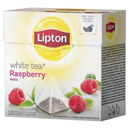 Obrazek Lipton Malina Herbata biała 30 g (20 torebek)