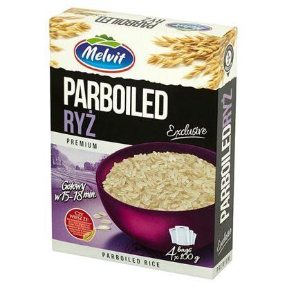 Obrazek Melvit Premium Ryż parboiled 400 g (4 torebki)