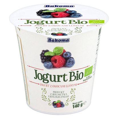 Obrazek Bakoma Jogurt Bio z owocami leśnymi 140 g