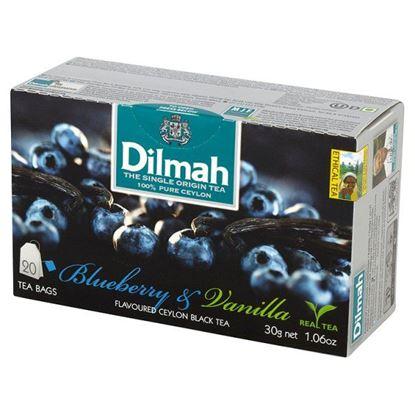 Obrazek Dilmah Cejlońska czarna herbata z aromatem czarnej jagody i wanilii 30 g (20 torebek)