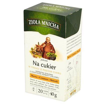 Obrazek Big-Active Zioła Mnicha Na cukier Herbatka ziołowa z dodatkiem herbaty zielonej 40 g (20 torebek)