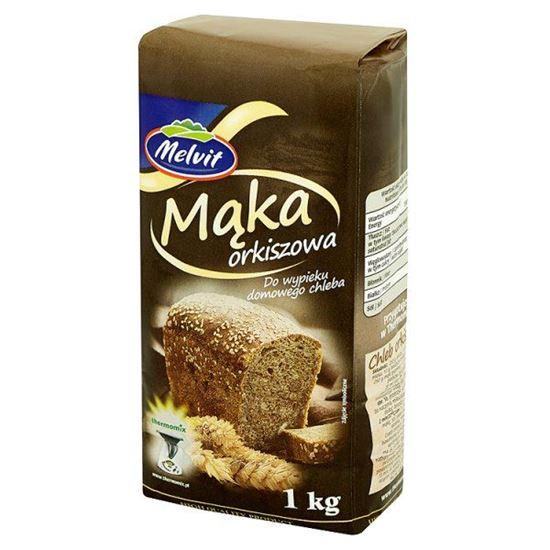 Obrazek Melvit Mąka orkiszowa do wypieku domowego chleba 1 kg