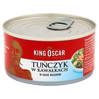 Obrazek King Oscar Tuńczyk w kawałkach w sosie własnym 170 g