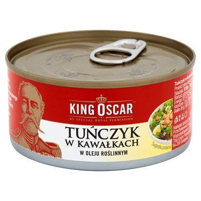 Obrazek King Oscar Tuńczyk w kawałkach w oleju roślinnym 170 g