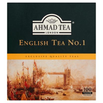 Obrazek Ahmad Tea English Tea No. 1 Herbata czarna 200 g (100 torebek z zawieszką)
