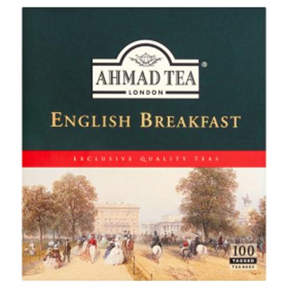 Obrazek Ahmad Tea English Breakfast Herbata czarna 200 g (100 torebek z zawieszką)