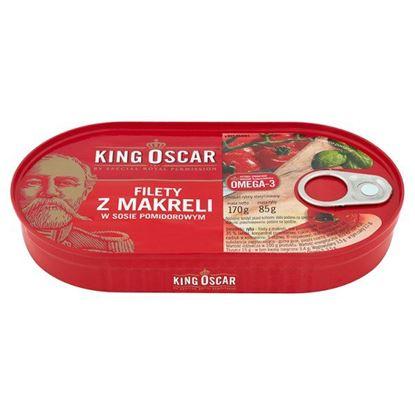 Obrazek King Oscar Filety z makreli w sosie pomidorowym 170 g