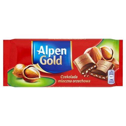 Obrazek Alpen Gold Czekolada mleczna orzechowa 90 g