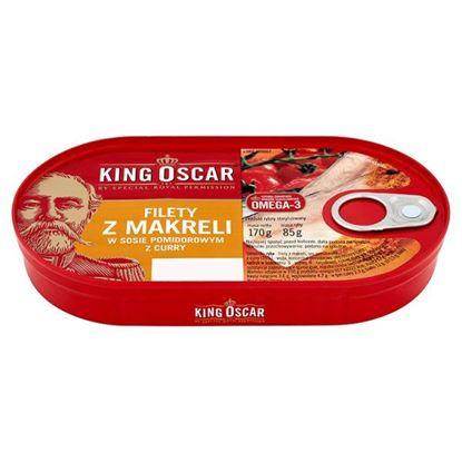 Obrazek King Oscar Filety z makreli w sosie pomidorowym z curry 170 g