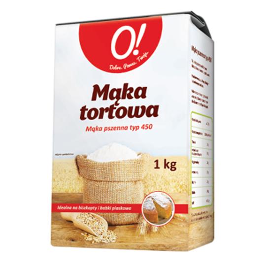 Obrazek O! Mąka tortowa pszenna typ 450 1 kg