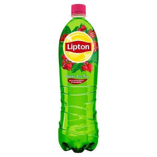 Obrazek Lipton Ice Tea Green Wild Strawberry & Cranberry Napój niegazowany 1,5 l