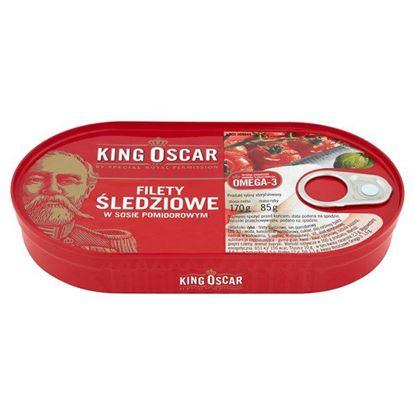 Obrazek King Oscar Filety śledziowe w sosie pomidorowym 170 g