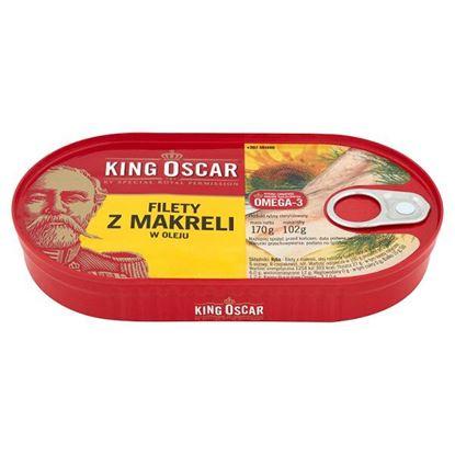 Obrazek King Oscar Filety z makreli w oleju 170 g