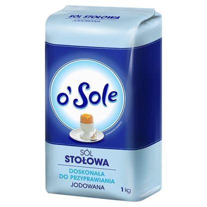 Obrazek o'Sole Sól stołowa jodowana 1 kg