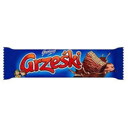 Obrazek Grześki Wafel przekładany kremem kakaowym w czekoladzie 36 g