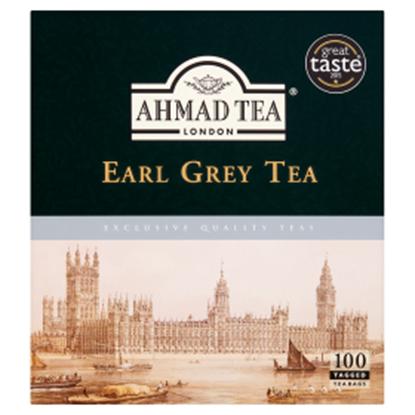 Obrazek Ahmad Tea Earl Grey Herbata czarna 200 g (100 torebek z zawieszką)