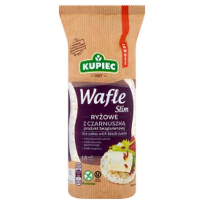 Obrazek Kupiec Slim Wafle ryżowe z czarnuszką 90 g (18 sztuk)