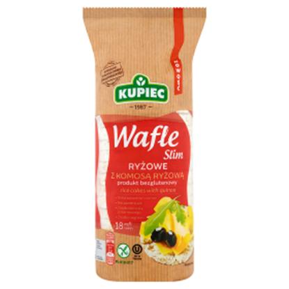Obrazek Kupiec Slim Wafle ryżowe z komosą ryżową 90 g (18 sztuk)