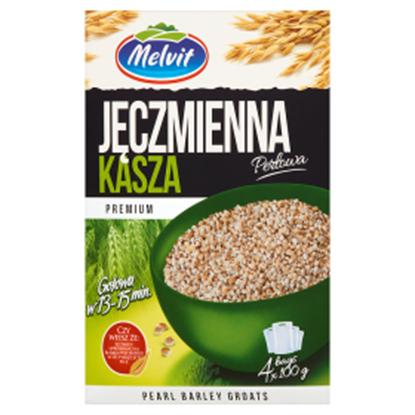 Obrazek Melvit Premium Kasza jęczmienna perłowa 400 g (4 torebki)