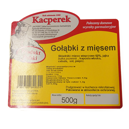 Obrazek Kacperek Gołąbki z mięsem 500 g