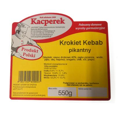 Obrazek Kacperek krokiet kebab pikantny 550 g