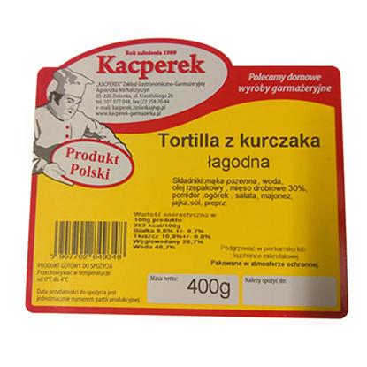 Obrazek Kacperek tortilla z kurczaka łagodna 400 g