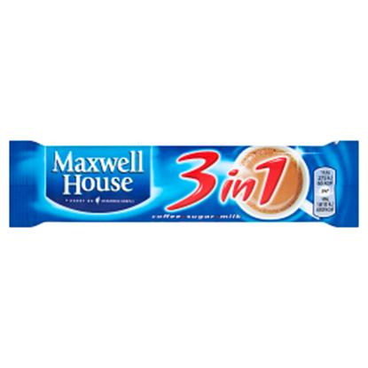 Obrazek Maxwell House 3 in 1 Rozpuszczalny napój kawowy 15,2 g