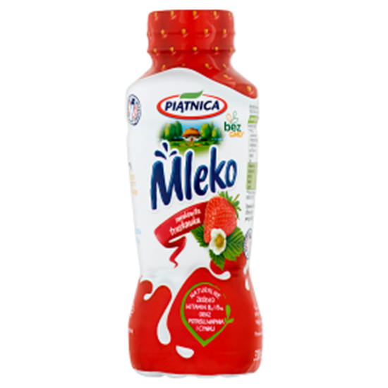 Obrazek Piątnica Mleko smakowita truskawka 330 ml