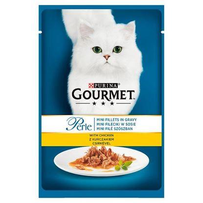 Gourmet Perle Pełnoporcjowa karma dla kotów mini fileciki w sosie z kurczakiem 85 g