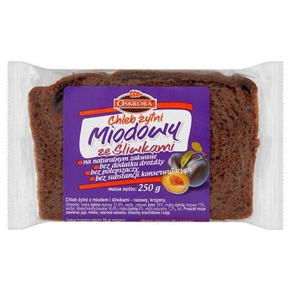 Oskroba Chleb żytni miodowy ze śliwkami 250 g