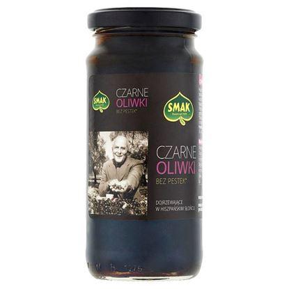 Smak Czarne oliwki bez pestek 220 g