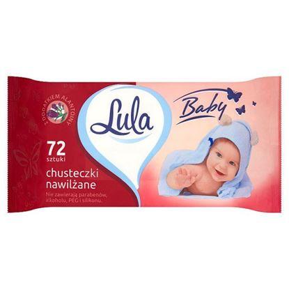 Lula Baby Chusteczki nawilżane z dodatkiem alantoiny 72 sztuki