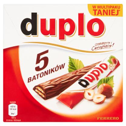 Obrazek Duplo Wafel z orzechowym nadzieniem pokryty mleczną czekoladą 91 g (5 batoników)