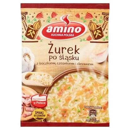 Amino Zupa błyskawiczna żurek po śląsku z boczkiem czosnkiem i chrzanem 65 g