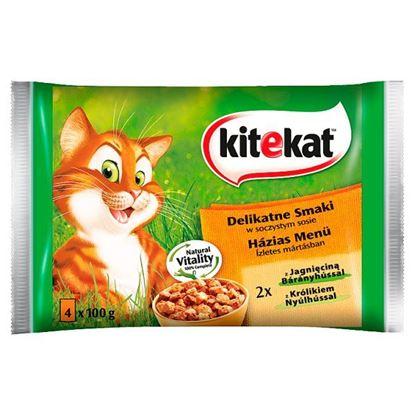 Kitekat Karma pełnoporcjowa delikatne smaki w soczystym sosie 400 g (4 x 100 g)