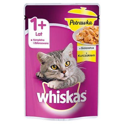 Whiskas 1+ lat Karma pełnoporcjowa potrawka w galaretce z kurczakiem 85 g