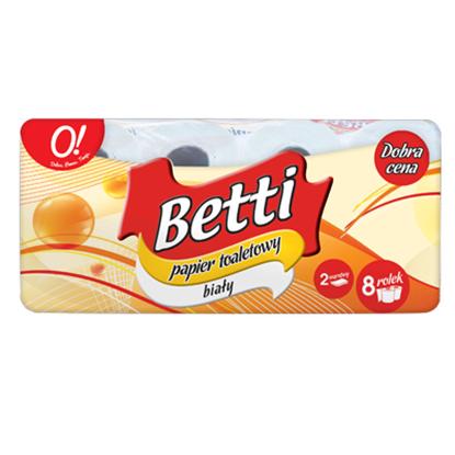 Obrazek O! Betti papier toaletowy 3 warstwowy 8 reolek