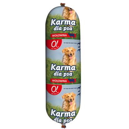 Obrazek O! Karma dla psa z wołowiną baton 900 g