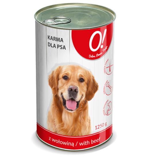 Obrazek O! Karma dla psa z wołowiną 1250 g