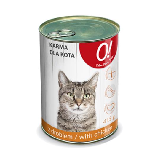 Obrazek O! Karma dla kota z drobiem 415 g