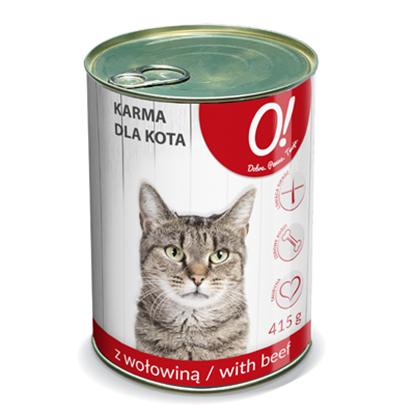 Obrazek O! Karma dla kota wołowina 415 g