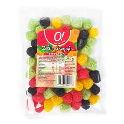 Obrazek O! Żelki jeżyny owocowe 250 g