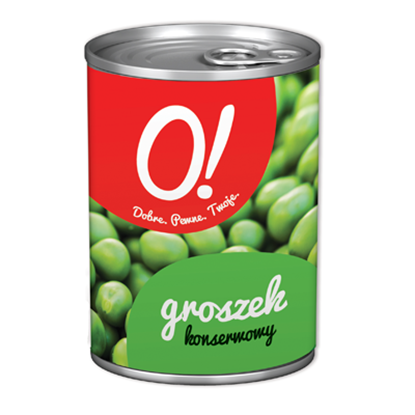 Obrazek O! Groszek konserwowy 400 g