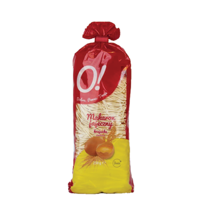Obrazek O! Makaron jajeczny krajanka z kurkumą 250g