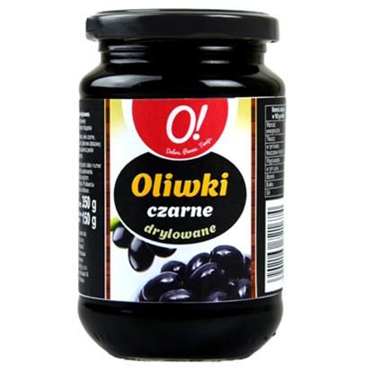 Obrazek O! Oliwki czarne drylowane 350 g