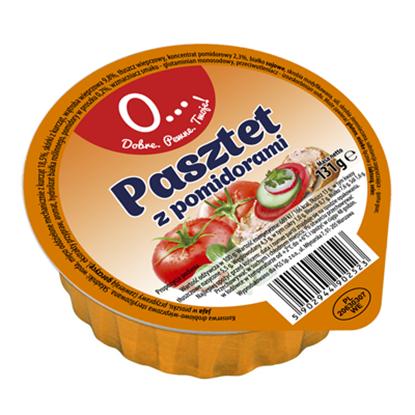 Obrazek O! Pasztet drobiowo wieprzowy z pomidorami 131 g