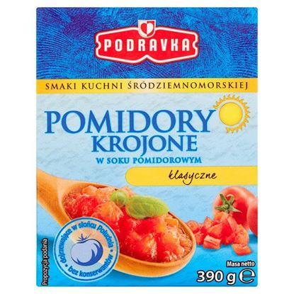 Podravka Pomidory krojone w soku pomidorowym klasyczne 390 g