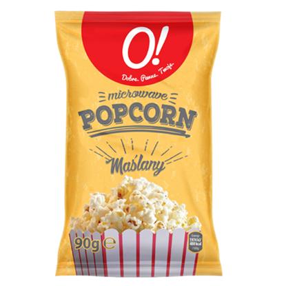 Obrazek O! Popcorn maślany 90 g